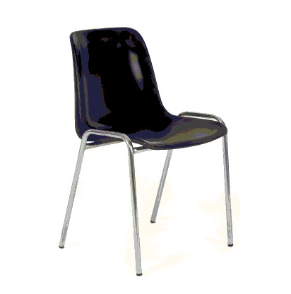 Alquileres sillas de pl stico negra for Sillas cromadas