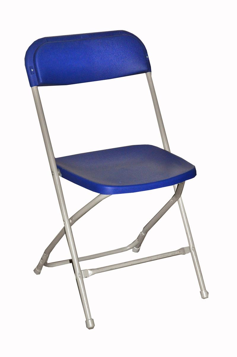 Alquiler de silla plegable suecia color azul casagay - Sillas plegables ...