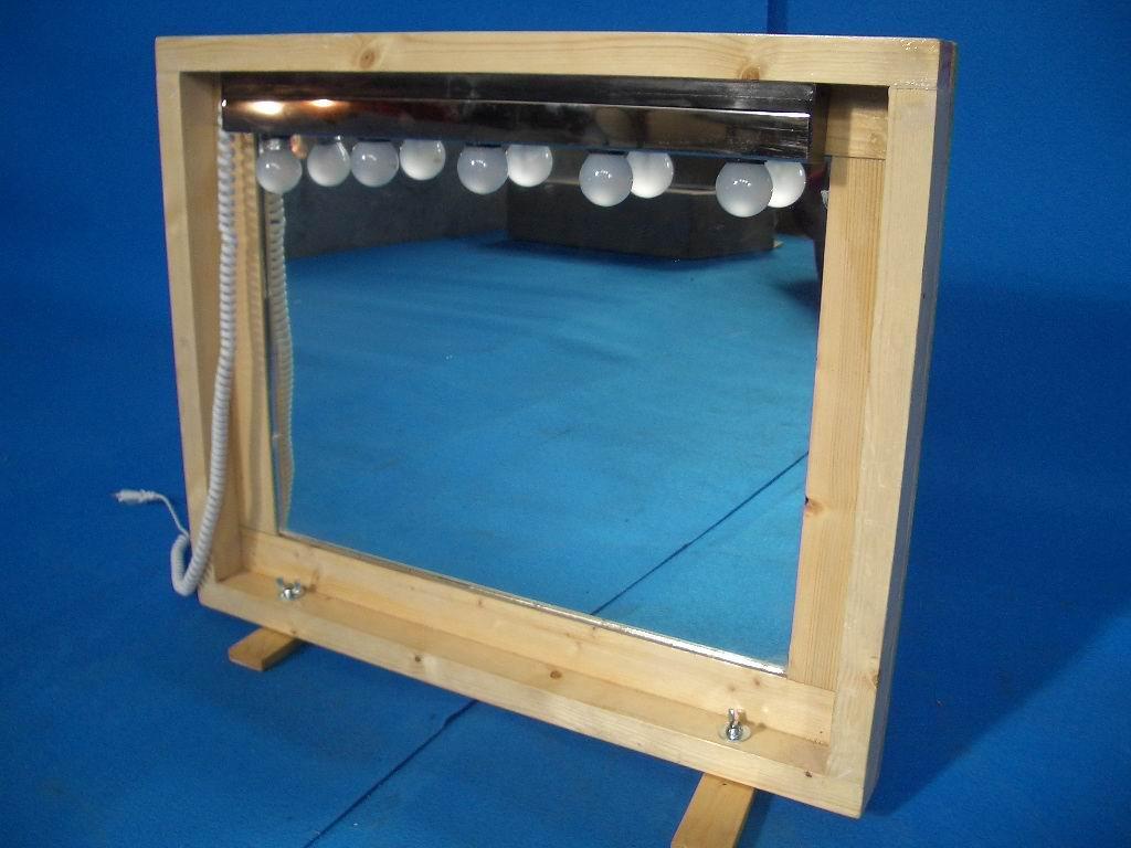 Alquiler de espejo con luces maquillaje 70x55cm casagay - Espejos con luces ...