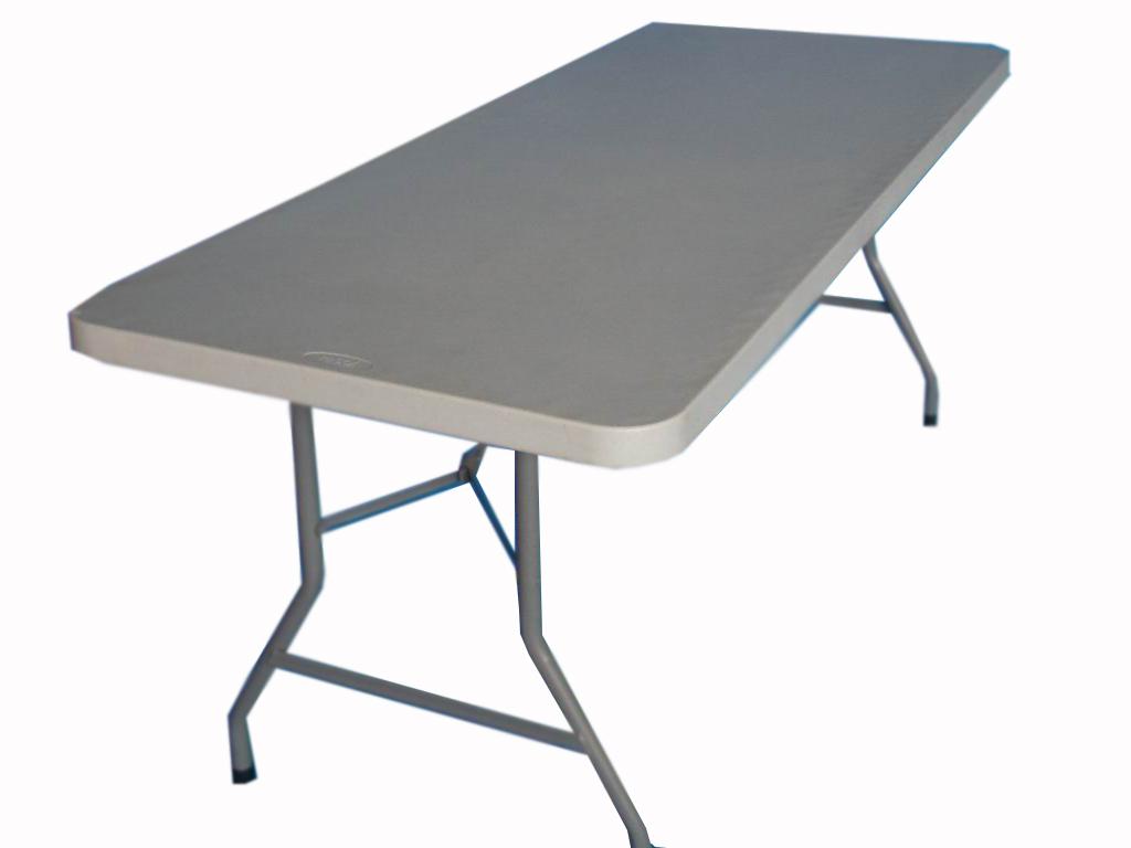 Alquileres de mesas plegables de pl stico for Mesa plegable plastico