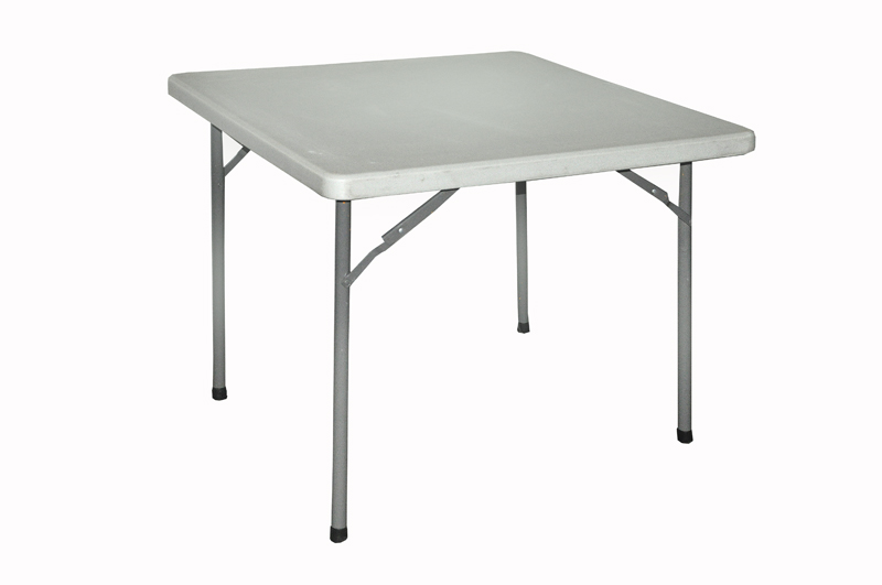 Alquiler de mesa cuadrada de pl stico plegable for Mesa plegable plastico