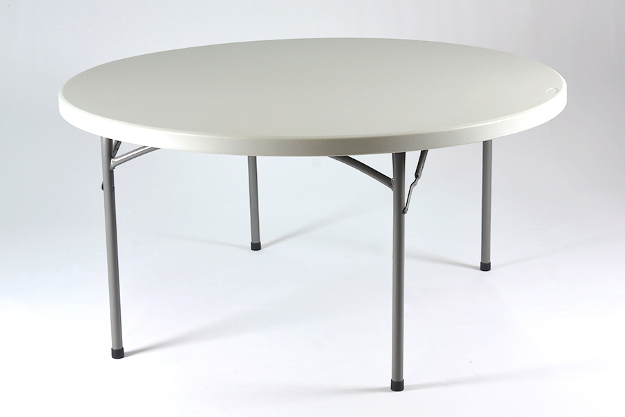 alquiler de mesa redonda para banquete pl stico