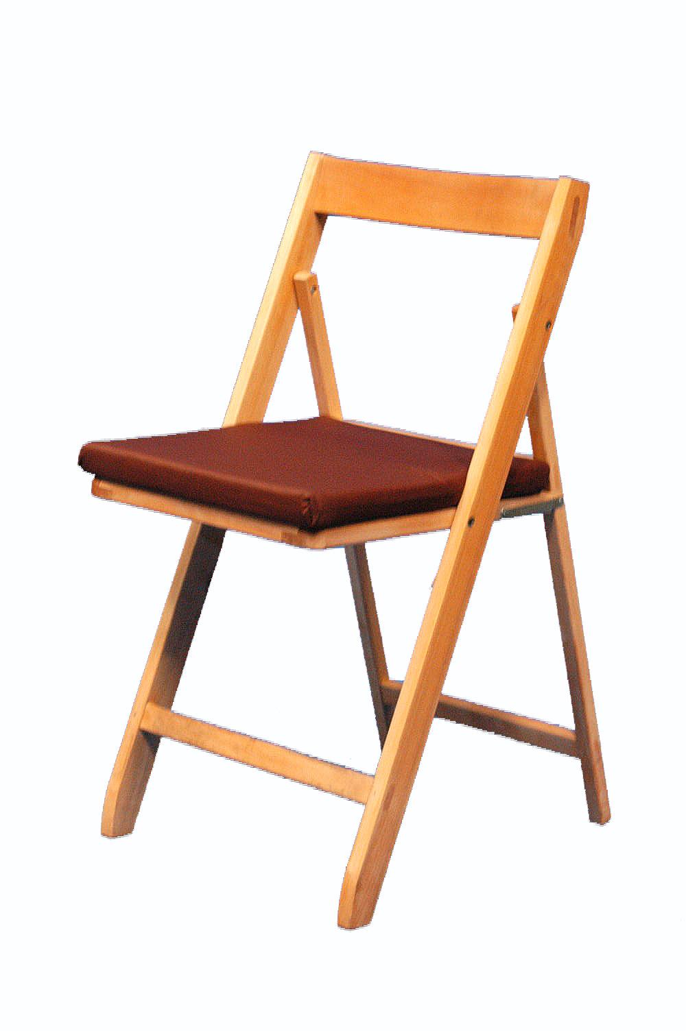 Alquiler de coj n marr n para silla plegable 36x36cm for Cojin para sillas