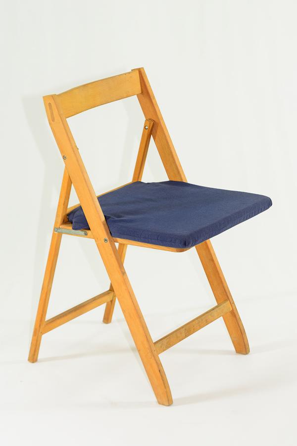 Alquiler de coj n azul para silla plegable casagay - Cojin para silla ...