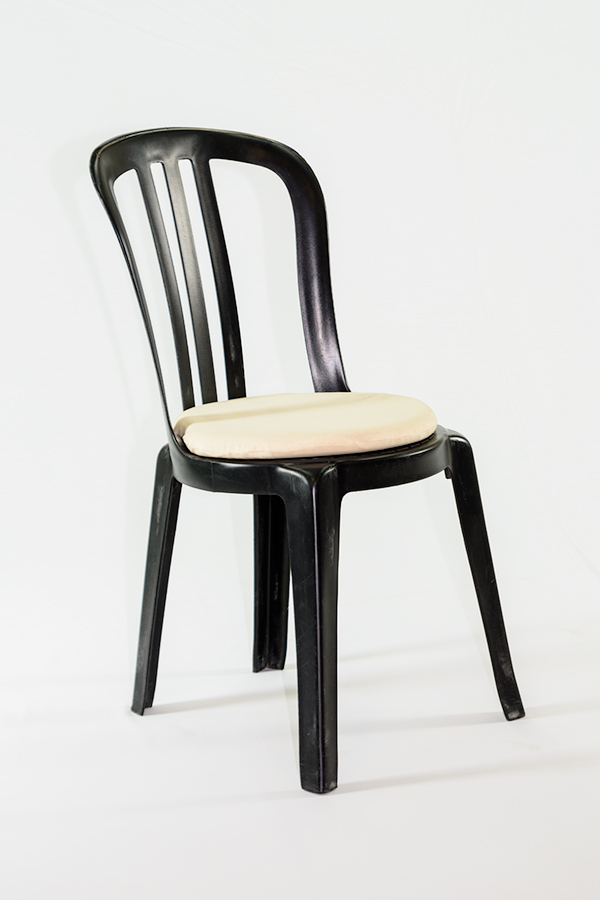 Alquiler de coj n redondo beige para silla bistrot casagay - Cojin redondo silla ...