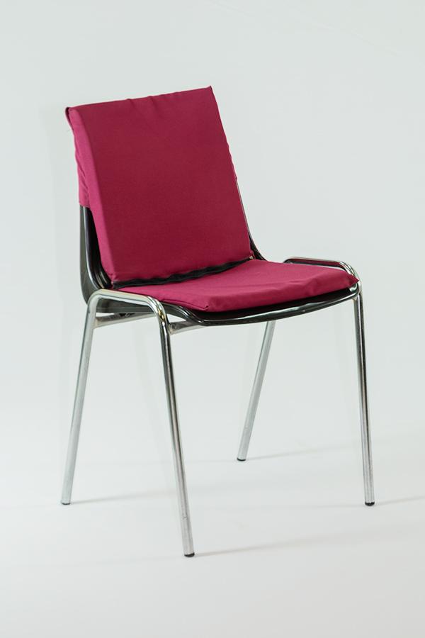 Alquiler de coj n doble granate para silla apilable casagay - Cojin para silla ...