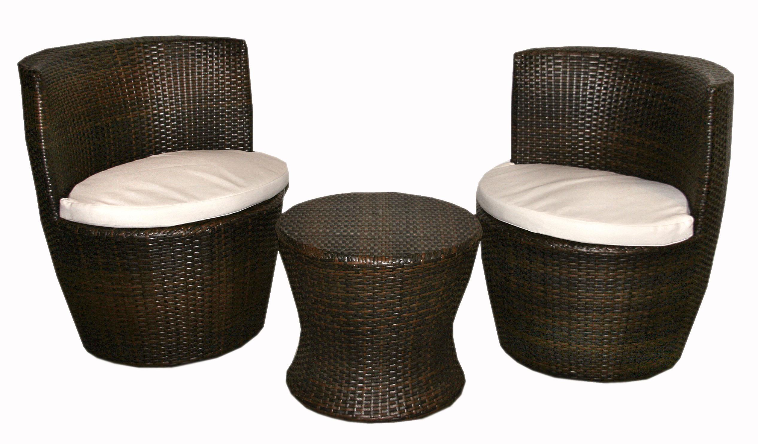 Alquiler de conjunto dos sillones mesa mimbre marr n - Sillas y sillones de mimbre ...