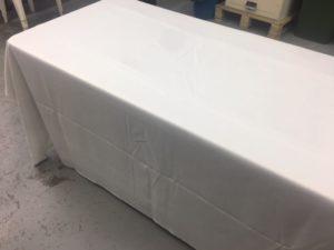 543- Mantel blanco poliéster 340×220