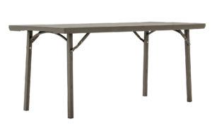 437- Mesa sobre plástico, marron (182 x 0,76cm.)