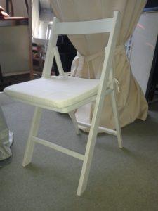 522 – Cojín Blanco para silla plegable, 36x36x3cm.